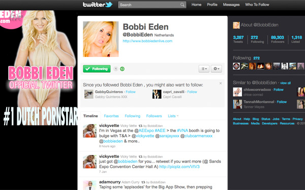 Twitter Profits From Porn, Bobbi Eden